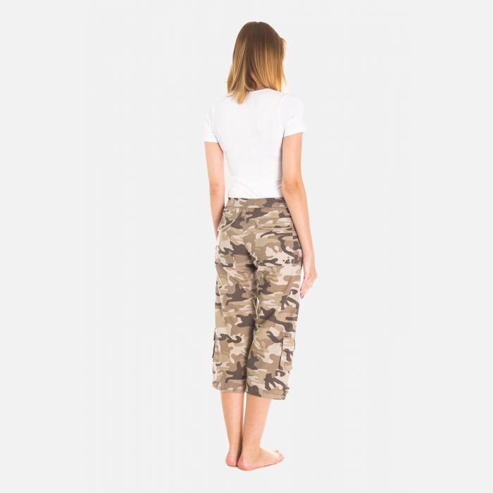 Spodnie Damskie Rybaczki - Moro Khaki (4000)