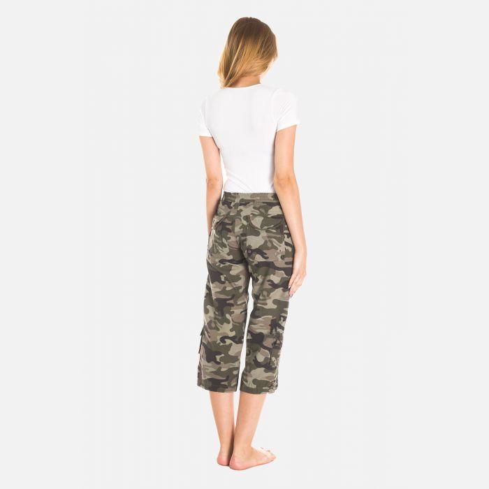 Spodnie Damskie Rybaczki - Moro Zielone (4100)