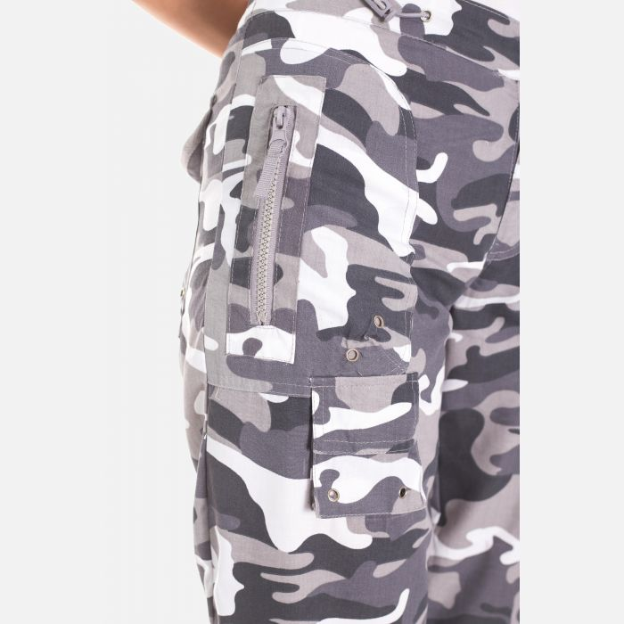 Spodnie Damskie Rybaczki - Moro Szare (4000)