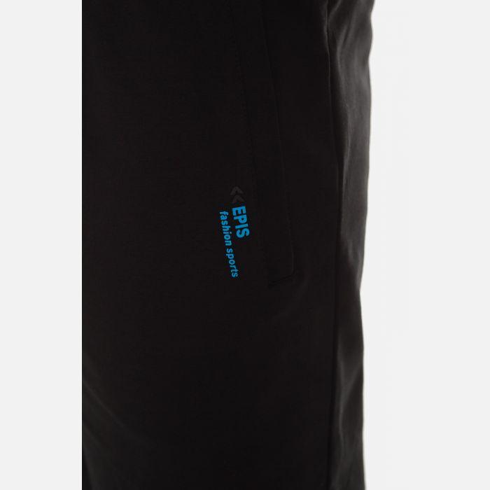 Męskie Spodnie Dresowe 3/4 - Granatowe (57073)