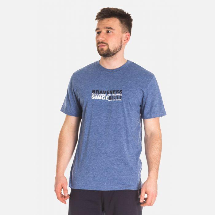 Koszulka Męska Bawełniana - Granatowa (67310)