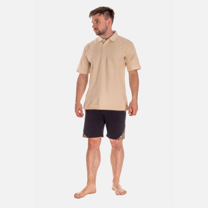 Koszulka Męska Polo - Beżowa (001)