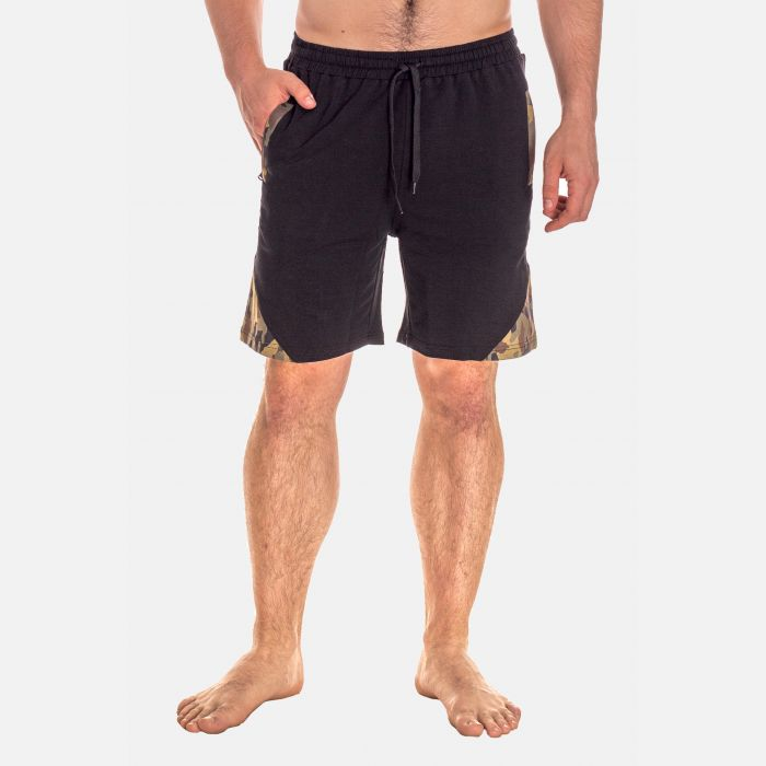 Spodnie Męskie Dresowe Krótkie - Czarne 67379