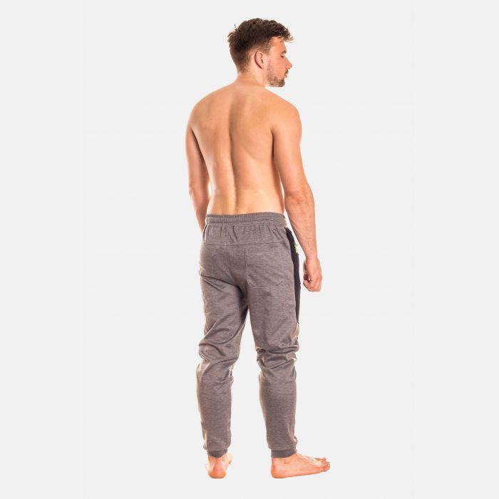Spodnie Męskie Dresowe - Szaro - Czarne (28101)