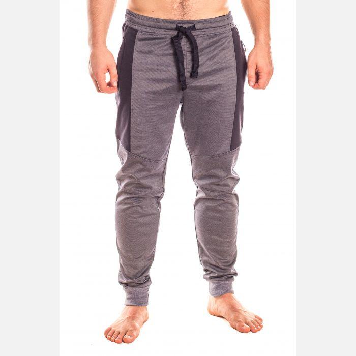 Spodnie Męskie Dresowe - Szaro - Granatowe (28101)