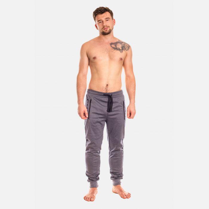 Spodnie Męskie Dresowe - Szaro - Granatowe (28100)