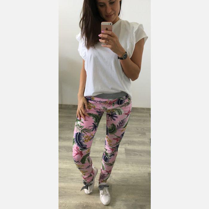 Spodnie Damskie Dresowe - Różowe (28161)