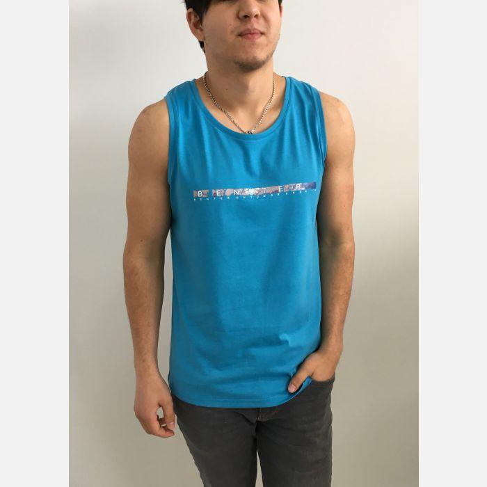 Koszulka Męska Top Benter - Niebieski (99014)