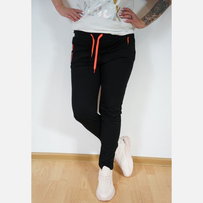 Sportowe spodnie dresowe damskie czarne 46898