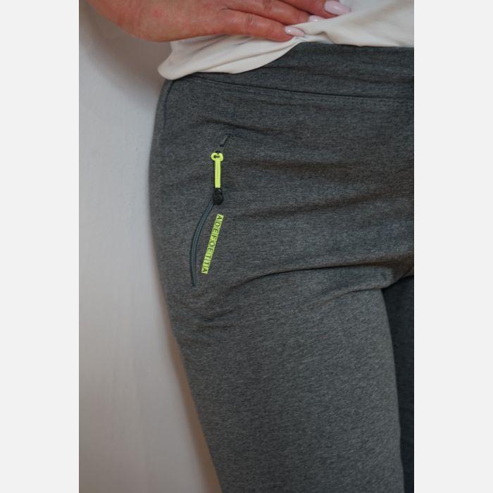 Sportowe spodnie dresowe damskie szare 46898 (1)