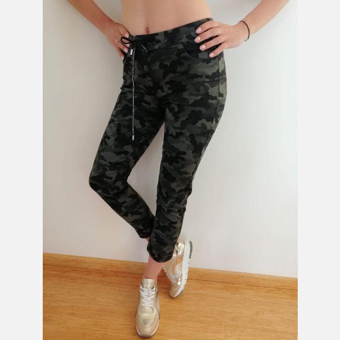 Spodnie Benter Damskie Moro zieleń- 46012