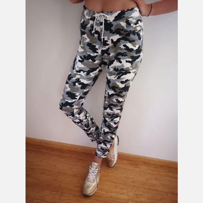 Spodnie Benter Damskie Moro szary - 46012 (1)