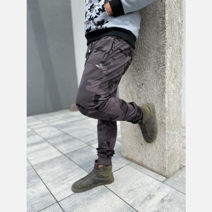 Spodnie Męskie Dresowe - Moro Grafit 28325