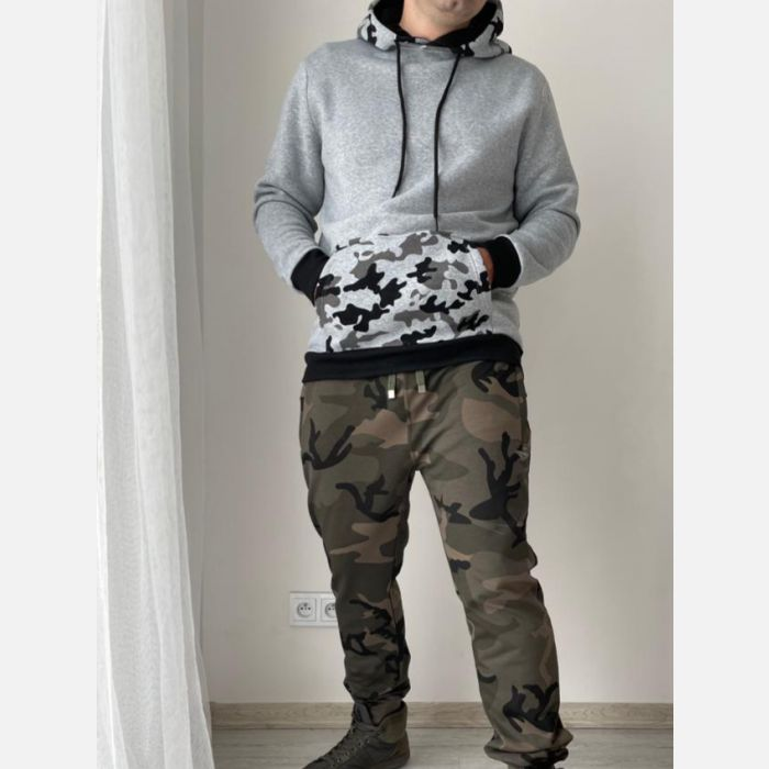 Spodnie Męskie Dresowe - Moro Khaki 28325