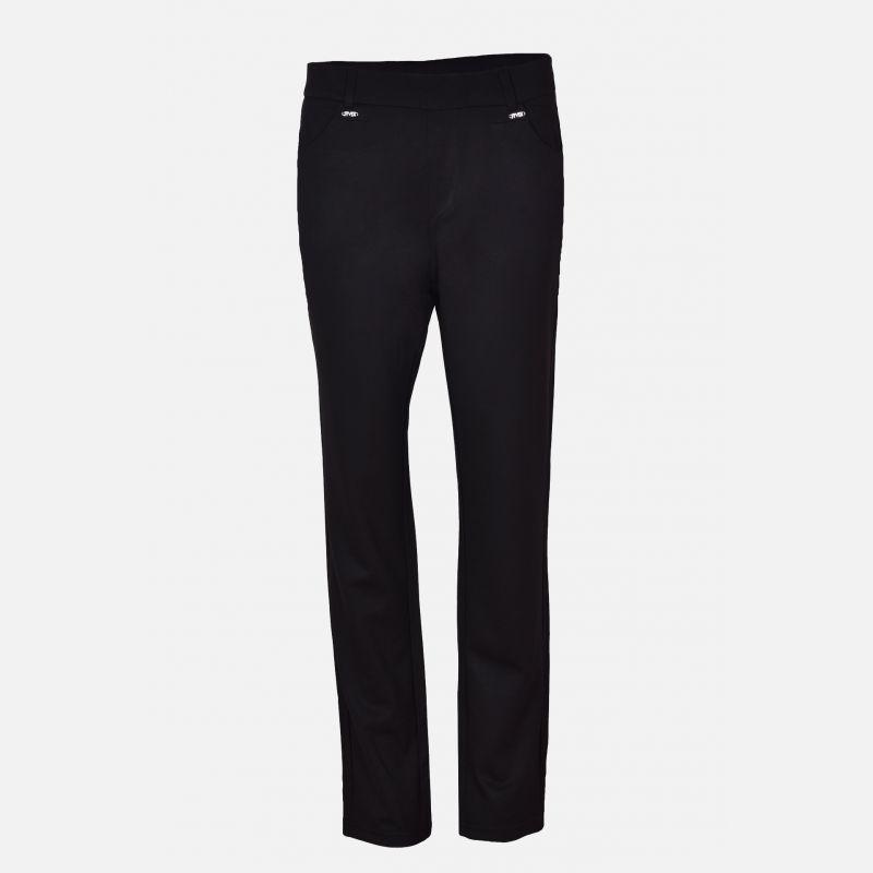 Spodnie damskie z kieszeniami czarne - 46304