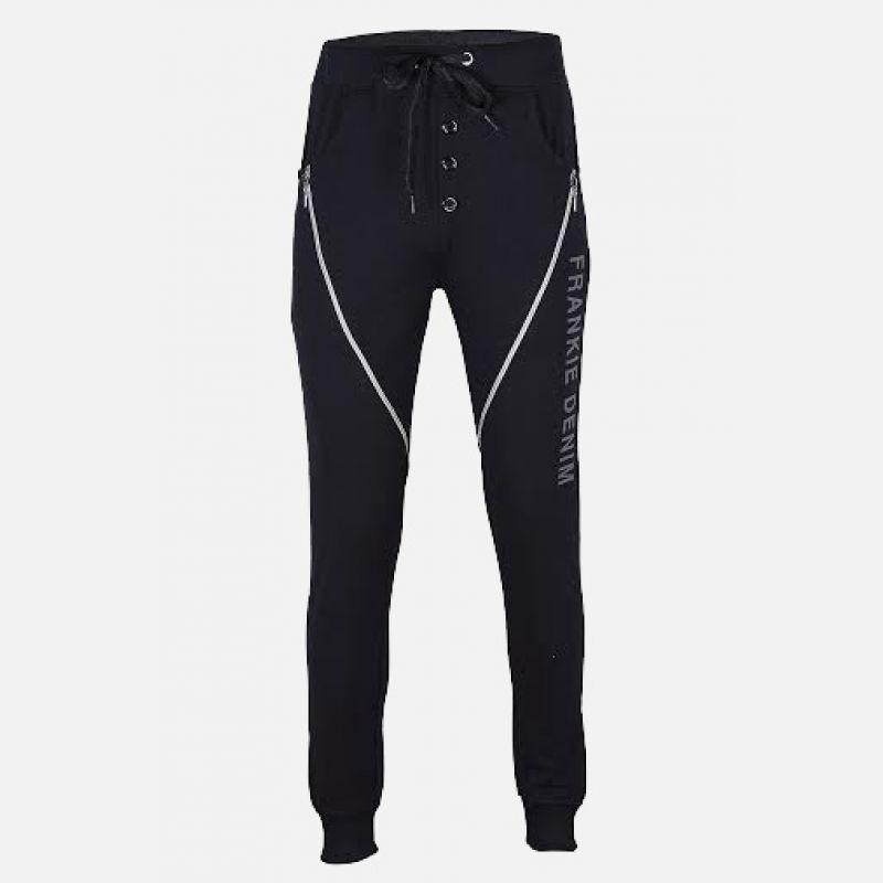 Spodnie męskie długie czarne - 98846