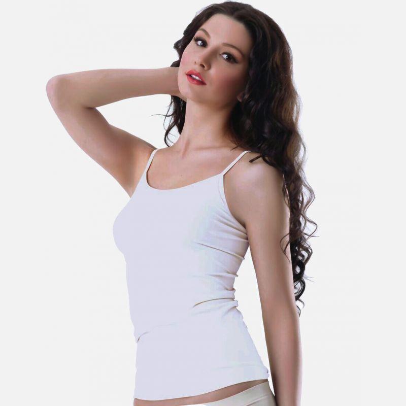 Podkoszulka damska wąskie ramiączko biała 300