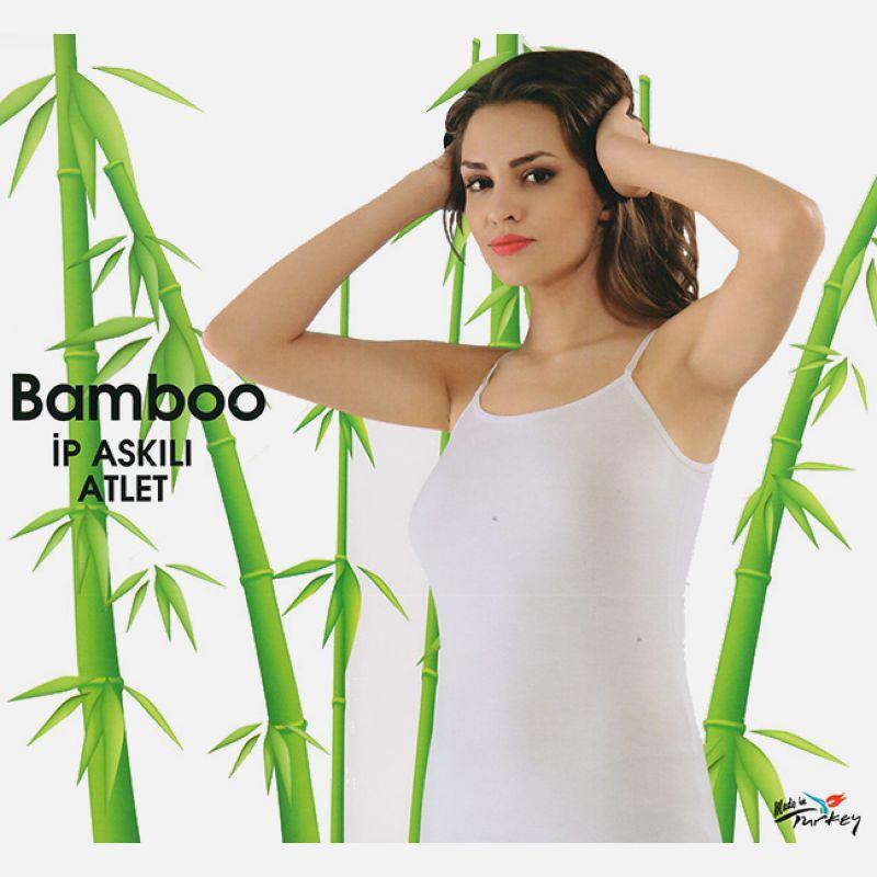 Koszulka damska z włókna bambusowego biała 700