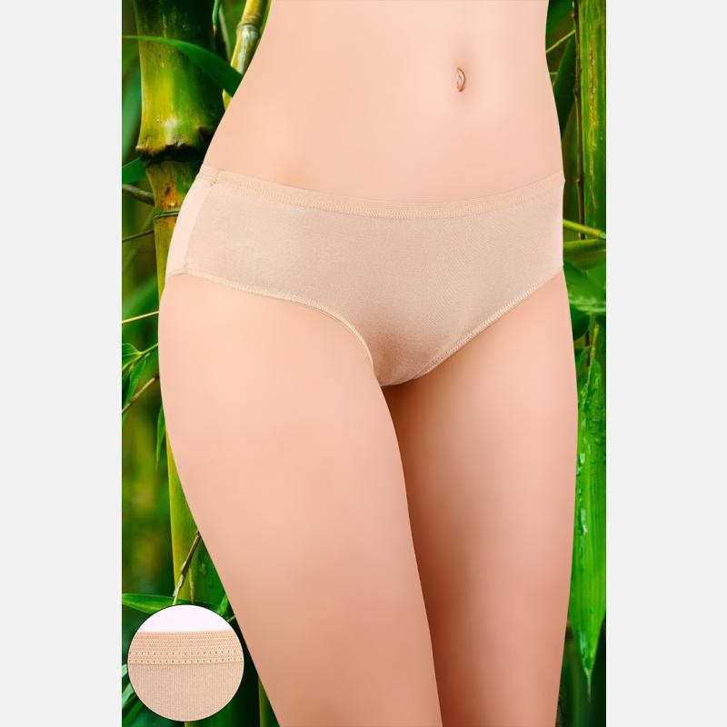 Majtki damskie bambusowe 3 pak szeroka guma mix kolorów - 907