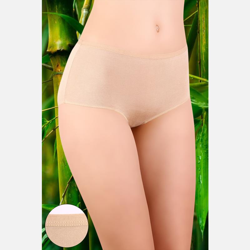 Majtki damskie bambus 3 pak bardzo wysoki stan mix kolorów - 908