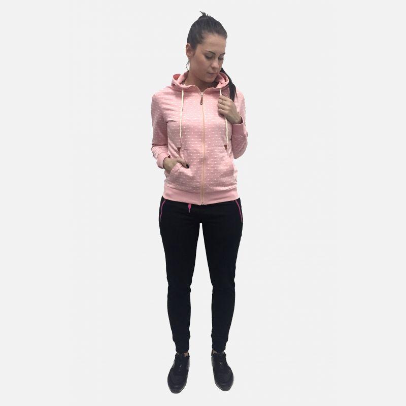 Bluza damska w kropki różowy 16835