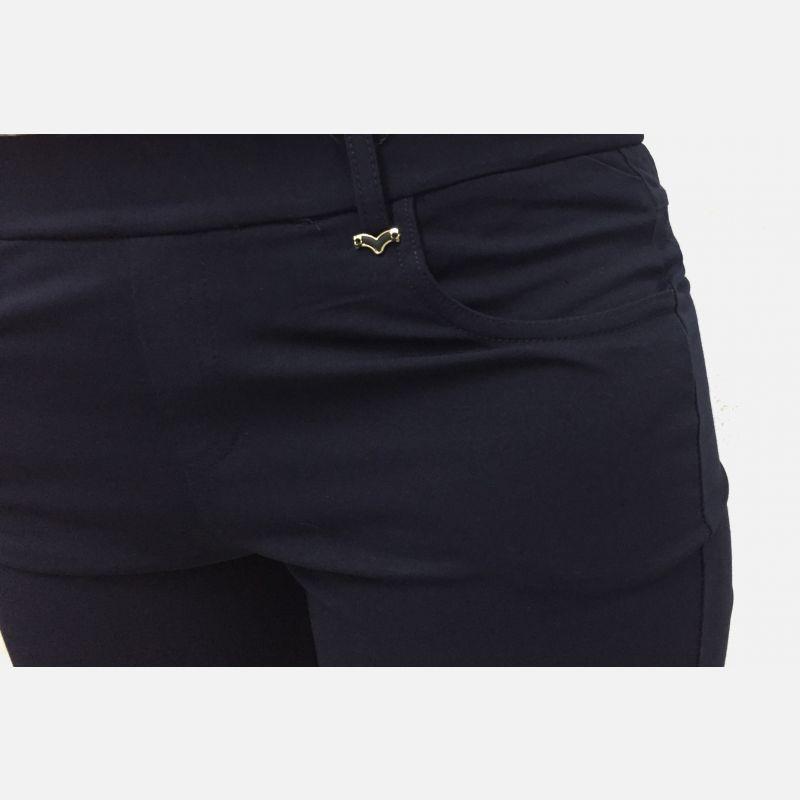 Spodnie damskie 3/4 z kieszeniami granatowe - 46193