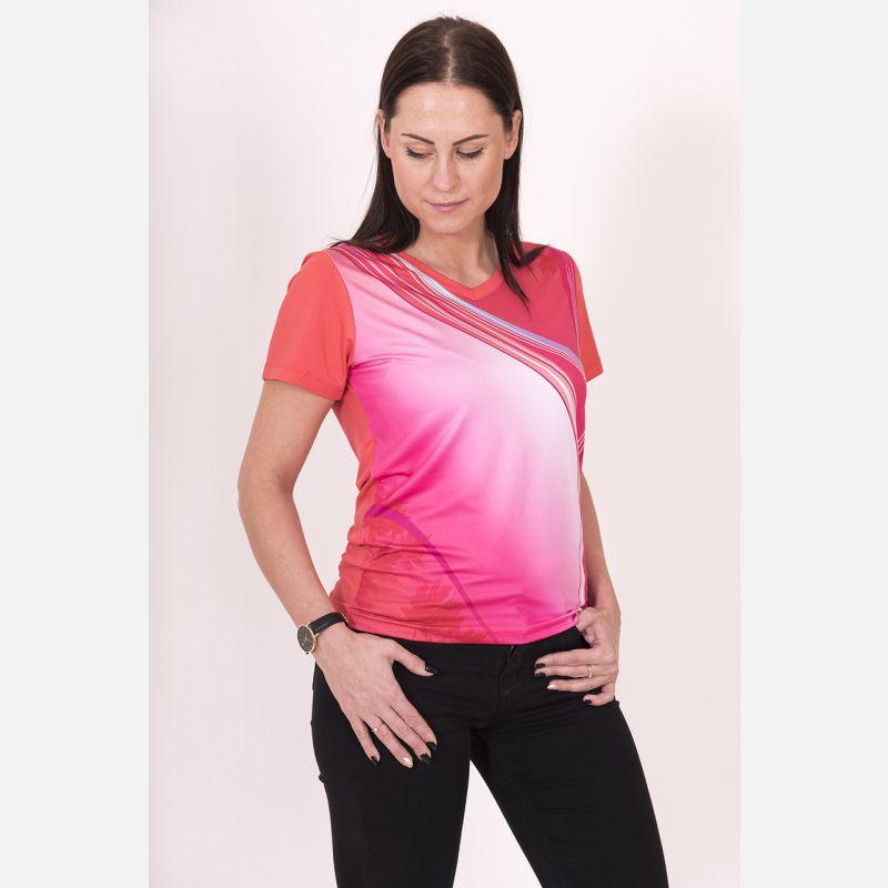 Koszulka Sportowa Oddychająca Koralowa 28030