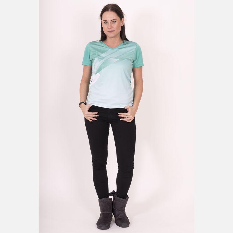 Oddychająca Koszulka Sportowa Zielona 28032