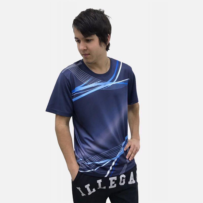 Koszulka Sportowa Oddychająca Granat 28026