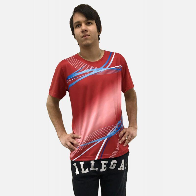 Koszulka Sportowa Oddychająca Czerwona 28026