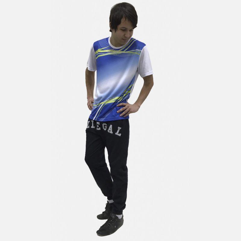 Koszulka Sportowa Oddychająca Błękit 28026
