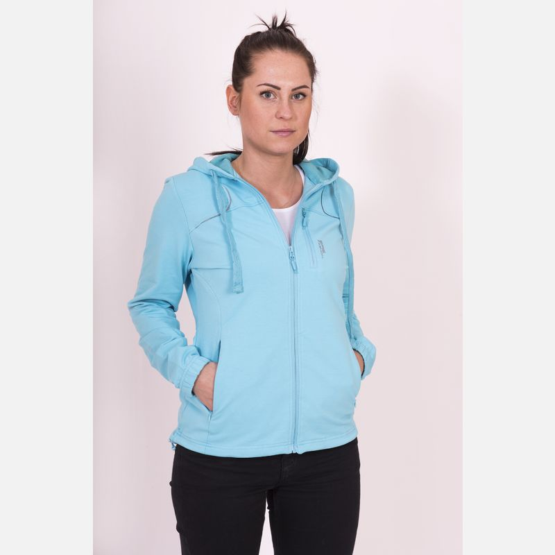 Bluza damska z kapturem błękitna 57095