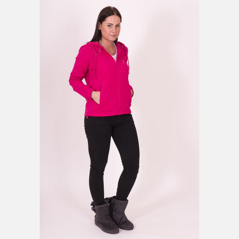 Bluza damska z kapturem różowa 57095