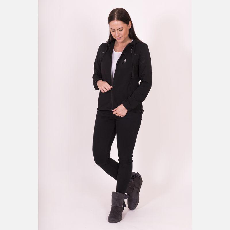 Bluza damska z kapturem czarna 57095