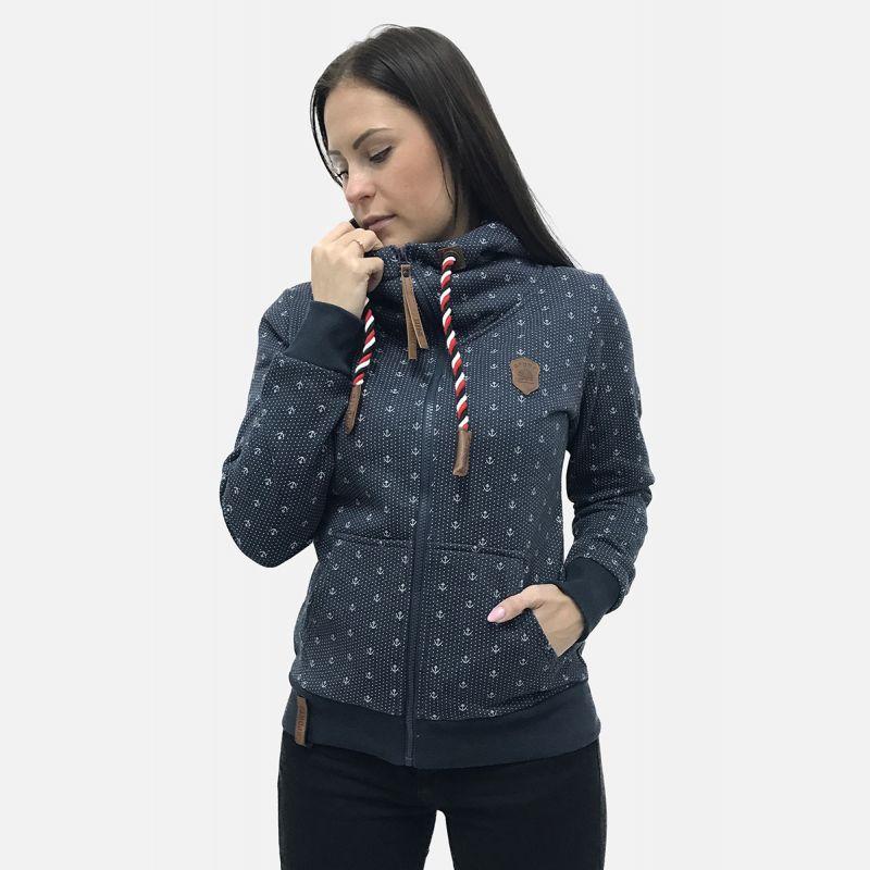 Bluza damska z kapturem granat 57372