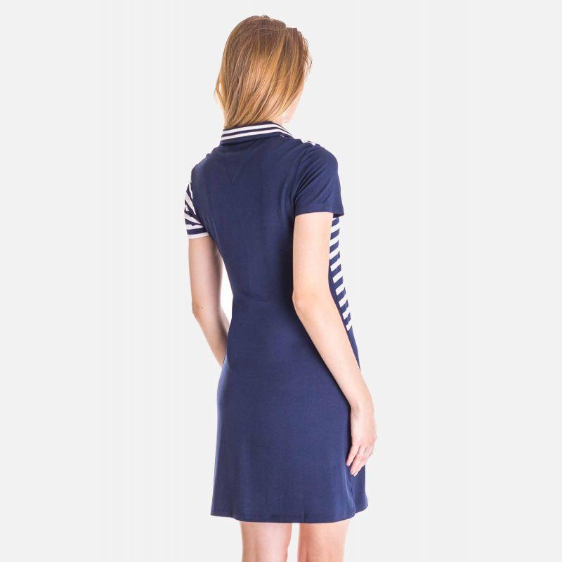 Sukienka Marynarskie Granatowe Pasy - 16811