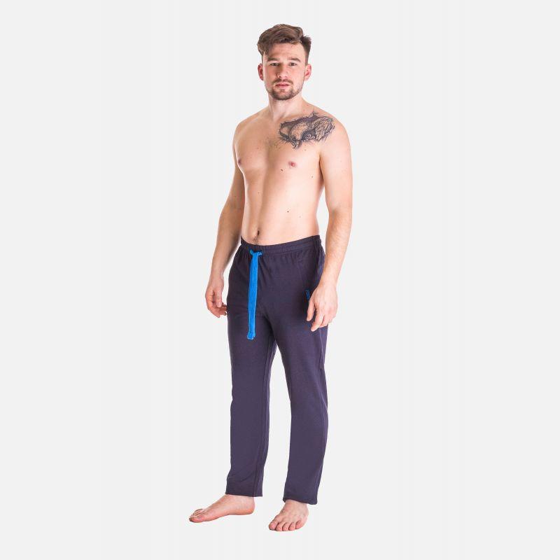 Spodnie Męskie Dresowe - Granatowo - Niebieskie 57358