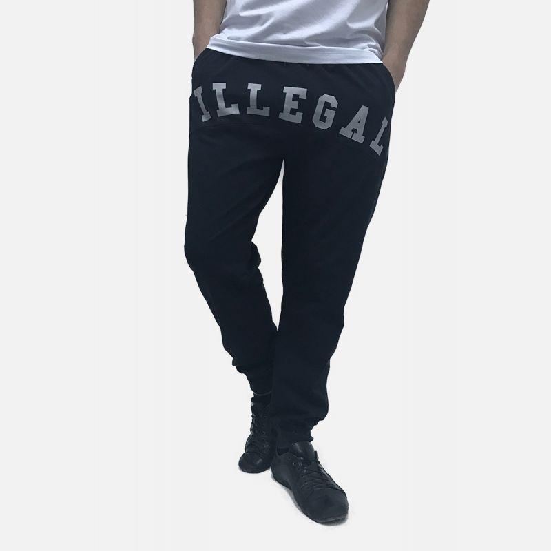 Spodnie Męskie Dresowe Baggy- Czarne 98871