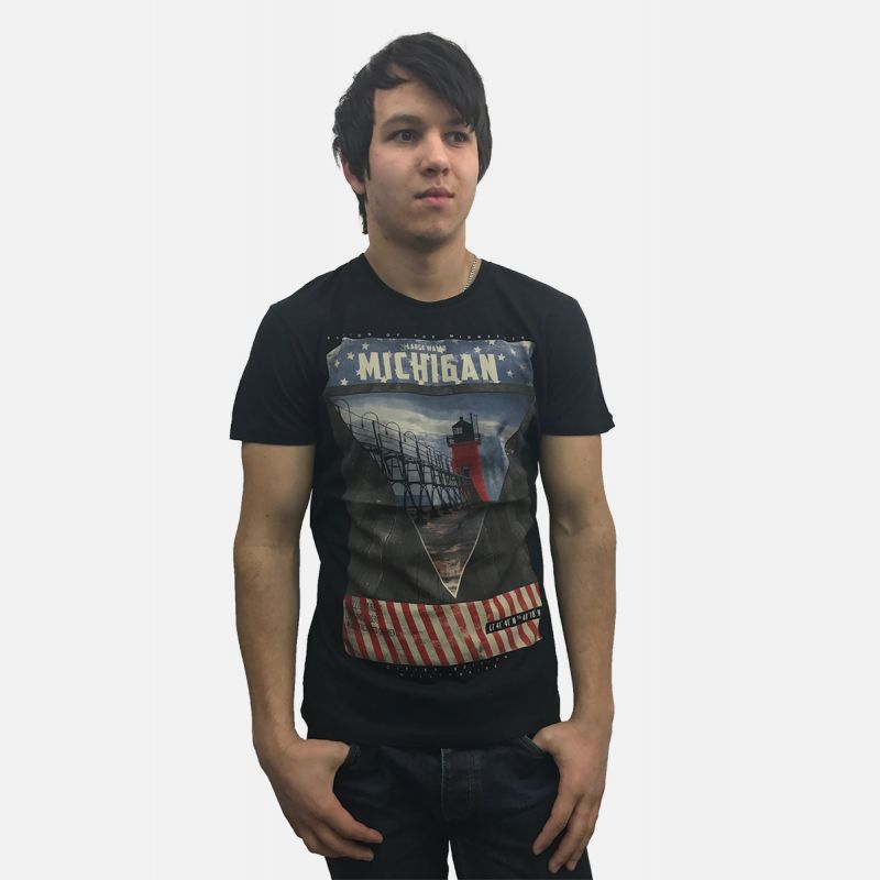 Koszulka męska Michigan czarna - 61269