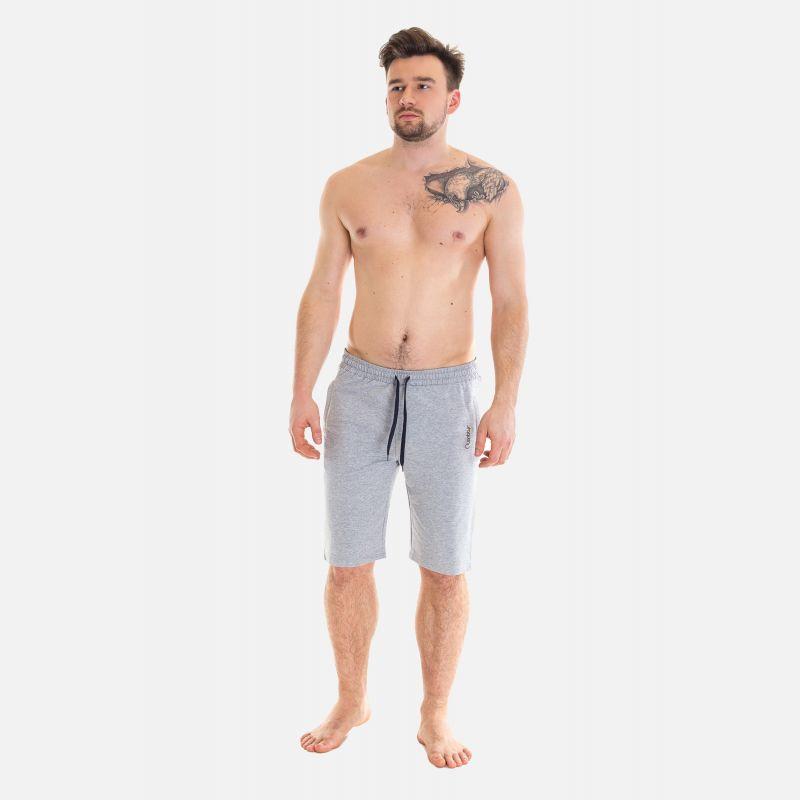 Spodnie Męskie Dresowe Krótkie - Szare 67372