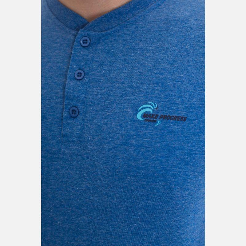 Koszulka Męska Benter - Niebieska 67315