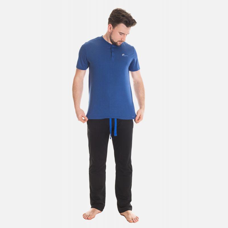 Koszulka Męska Benter - Ciemno - Niebieska 67315