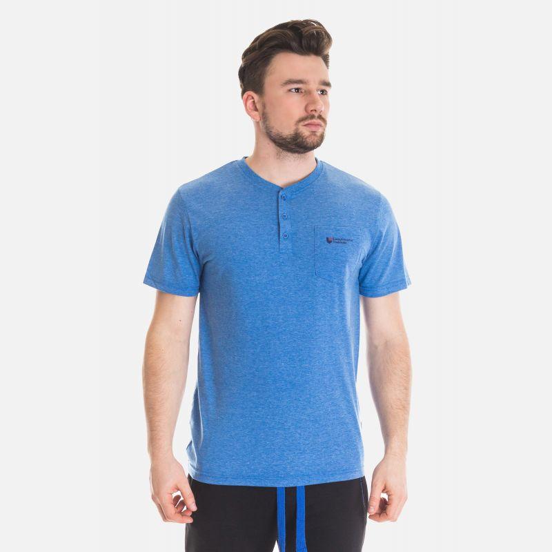 Koszulka Męska Benter - Niebieska 67307