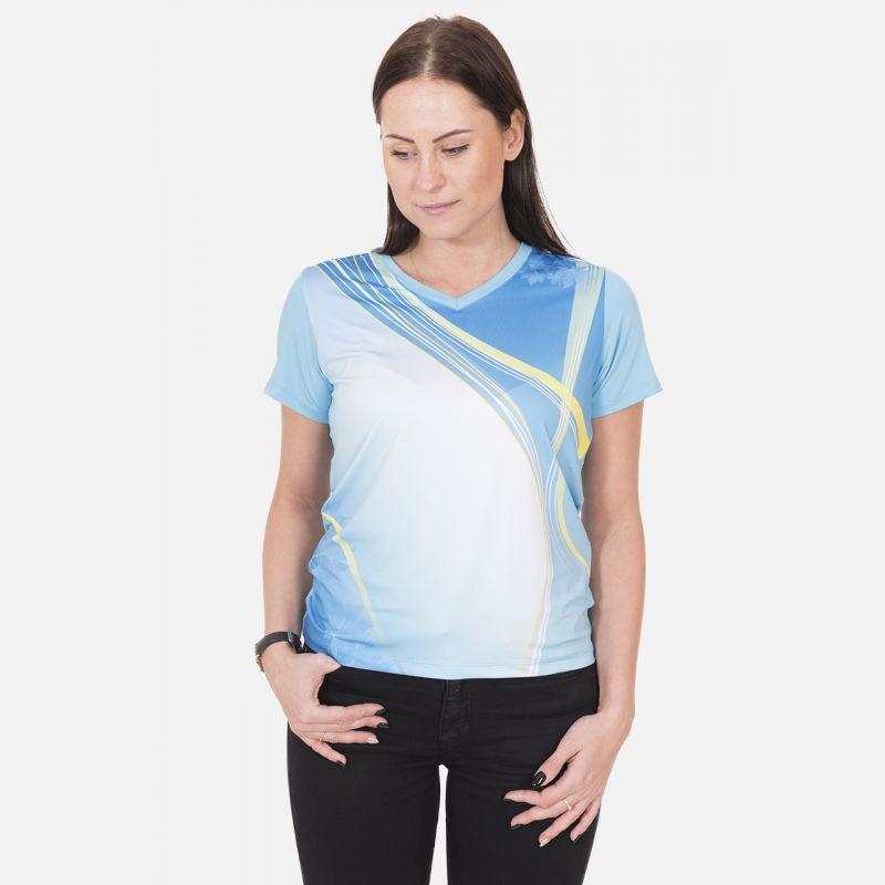 Koszulka Sportowa Oddychająca Błękitna 28030