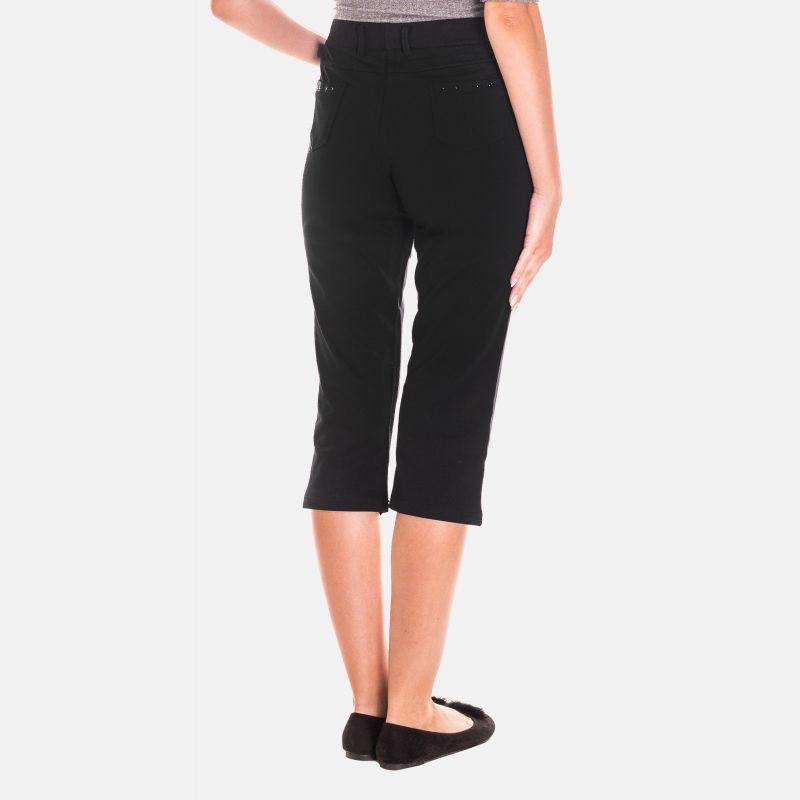 Spodnie Damskie 3/4 - Czarne 46186