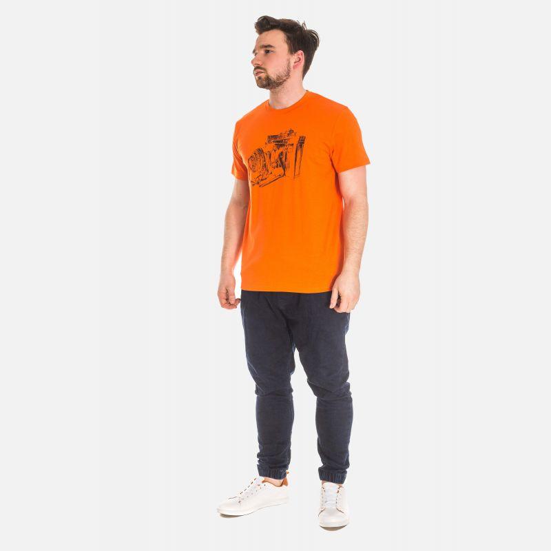 Koszulka Męska Pomarańczowa - 61001