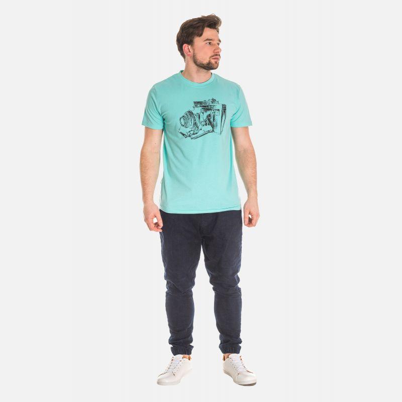 Koszulka Męska Turkusowa - 61001