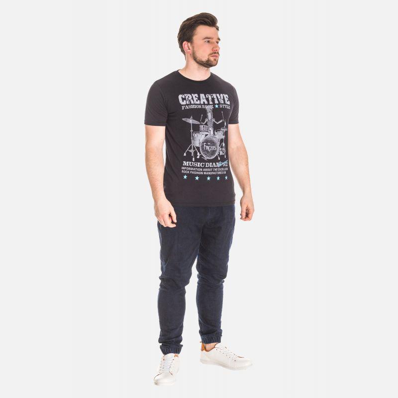 Koszulka Męska Bawełniana - Czarna 61039