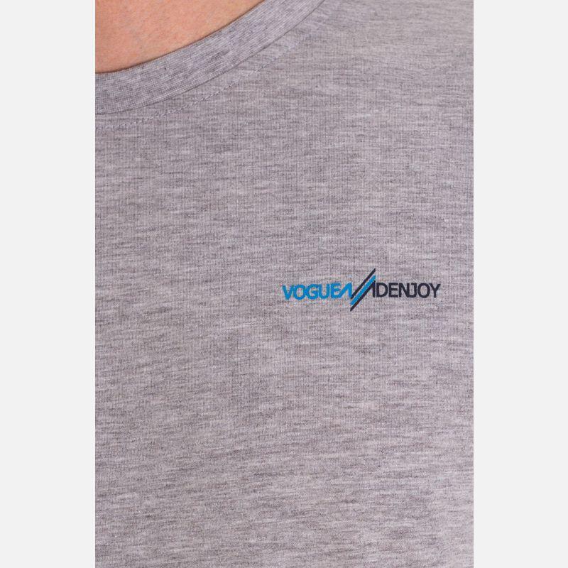 Koszulka Męska Bawełniana - Szara 65202