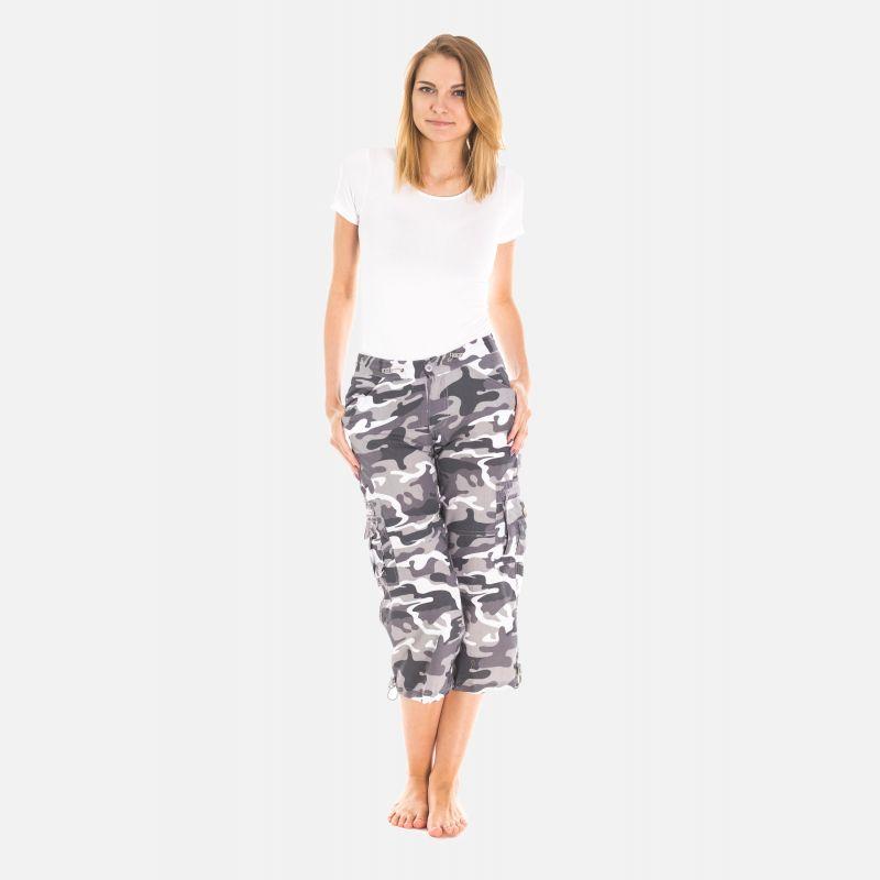 Spodnie Damskie Rybaczki - Moro Szare (4100)